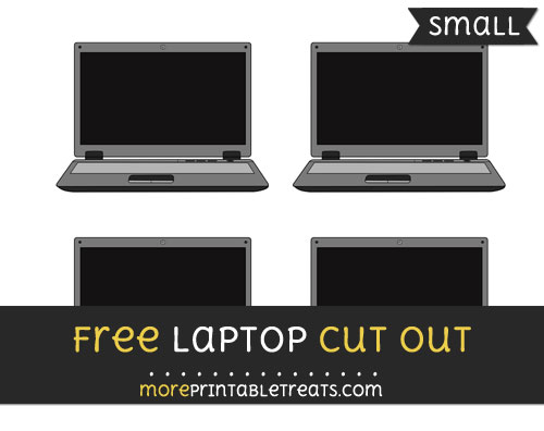 Free Laptop Cut Out - Small Size Printable