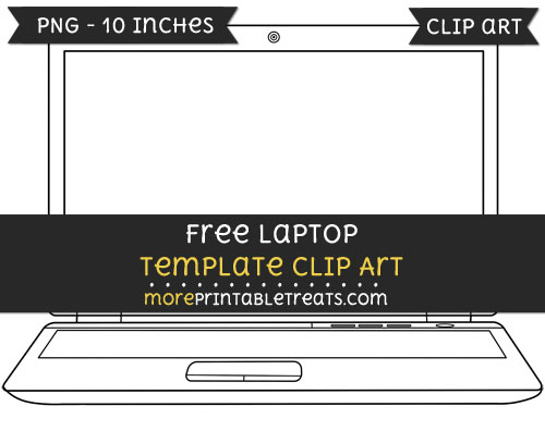 Free Laptop Template - Clipart