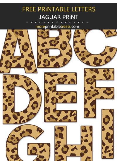 Free Printable Large Jaguar Print Letters
