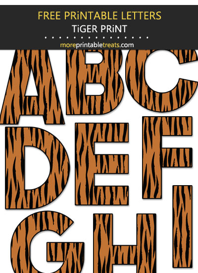 Free Printable Large Tiger Print Letters