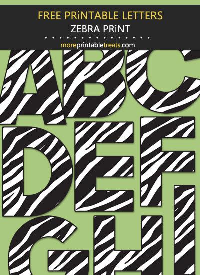 Free Printable Large Zebra Print Letters