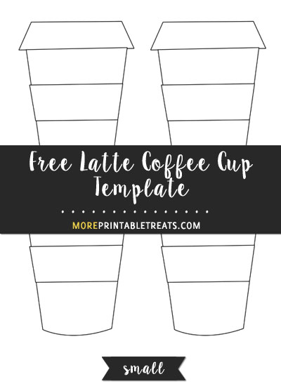 Free Latte Coffee Cup Template - Small