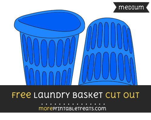 Free Laundry Basket Cut Out - Medium Size Printable