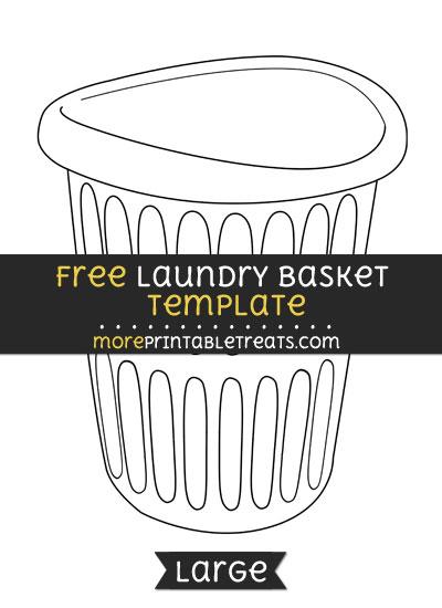Free Laundry Basket Template - Large