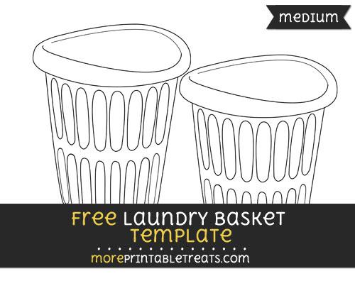 Free Laundry Basket Template - Medium