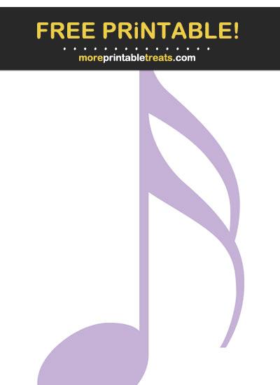 Free Printable Lavender Sixteenth Note