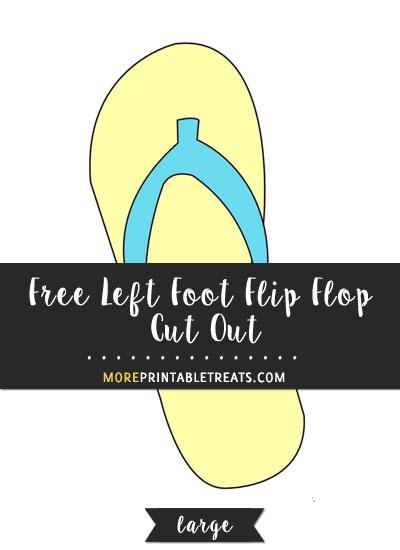 Free Left Foot Flip Flop Cut Out - Large
