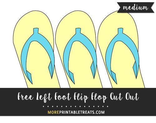 Free Left Foot Flip Flop Cut Out - Medium