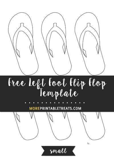 Free Left Foot Flip Flop Template - Small Size