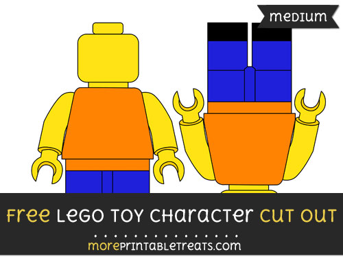 Free Lego Toy Character Cut Out - Medium Size Printable