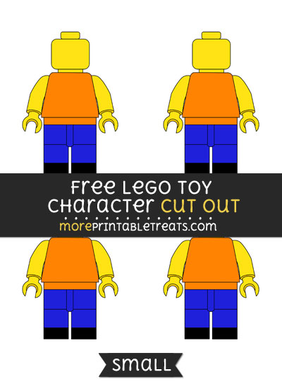 Free Lego Toy Character Cut Out - Small Size Printable