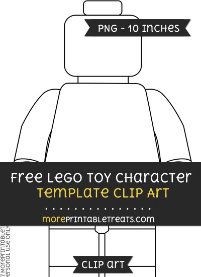 Free Lego Toy Character Template - Clipart
