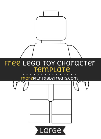 Free Lego Toy Character Template - Large