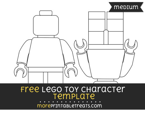Free Lego Toy Character Template - Medium