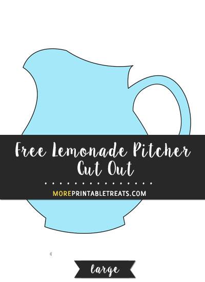 Free Lemonade Pitcher Cut Out - Large