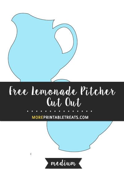 Free Lemonade Pitcher Cut Out - Medium