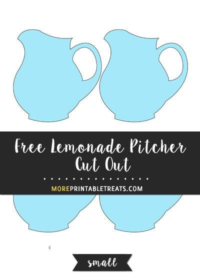 Free Lemonade Pitcher Cut Out - Small