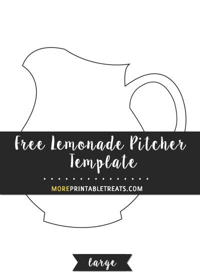 Free Lemonade Pitcher Template - Large