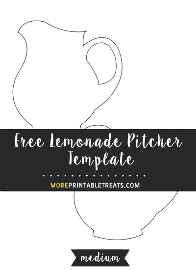 Free Lemonade Pitcher Template - Medium Size