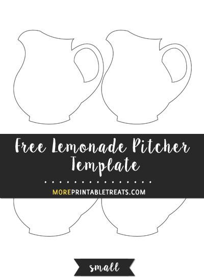 Free Lemonade Pitcher Template - Small Size