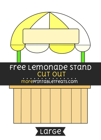 Free Lemonade Stand Cut Out - Large size printable