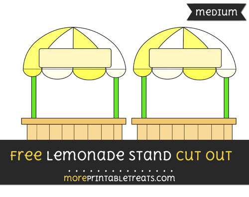 Free Lemonade Stand Cut Out - Medium Size Printable