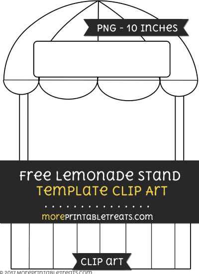 Free Lemonade Stand Template - Clipart