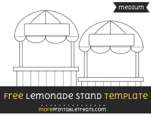 Free Lemonade Stand Template - Medium