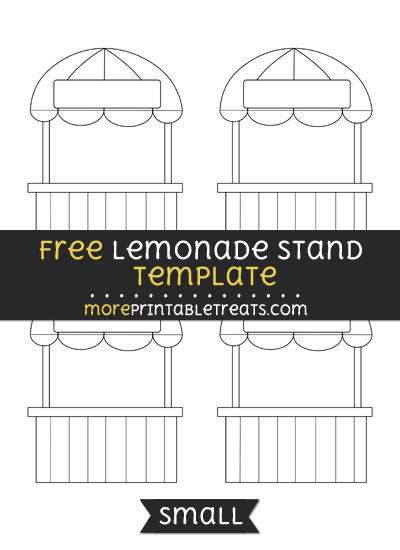 Free Lemonade Stand Template - Small