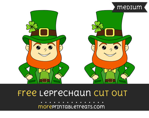 Free Leprechaun Cut Out - Medium Size Printable