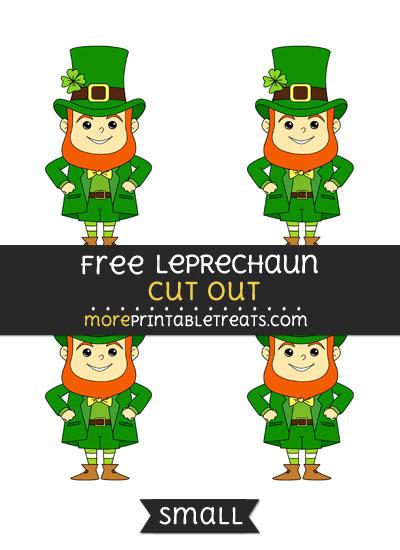 Free Leprechaun Cut Out - Small Size Printable