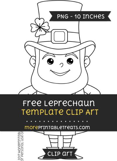 Free Leprechaun Template - Clipart