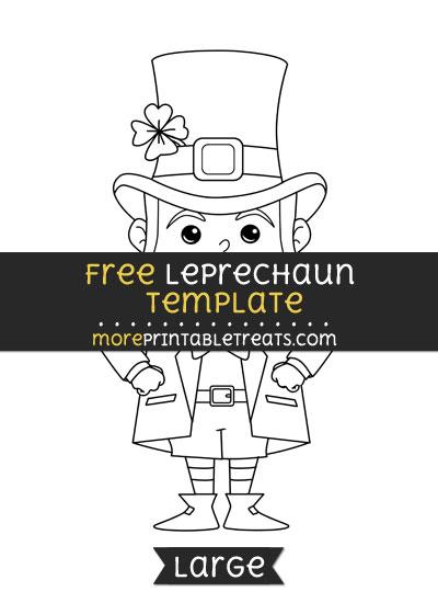 Free Leprechaun Template - Large