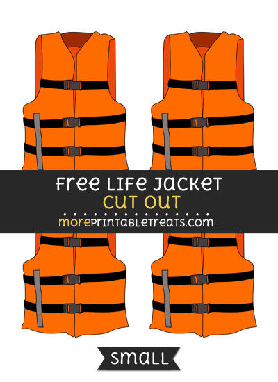 Free Life Jacket Cut Out - Small Size Printable