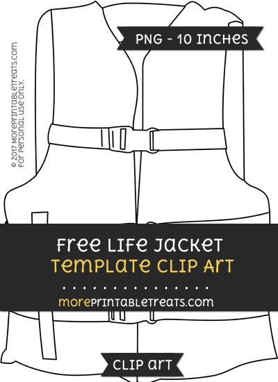 Free Life Jacket Template - Clipart