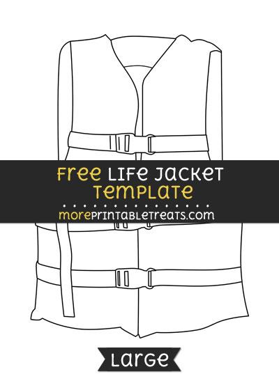 Free Life Jacket Template - Large