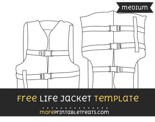 Free Life Jacket Template - Medium
