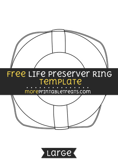 Free Life Preserver Ring Template - Large