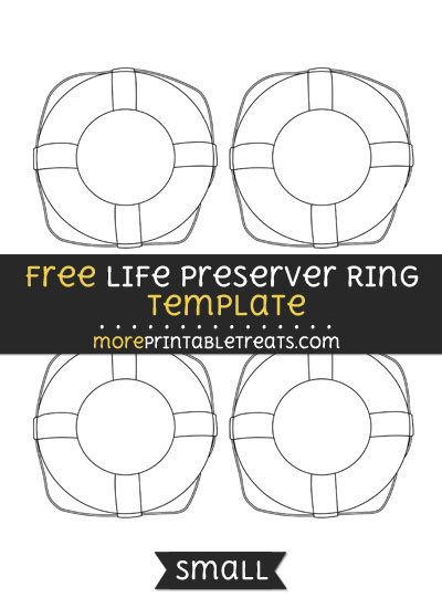 Free Life Preserver Ring Template - Small
