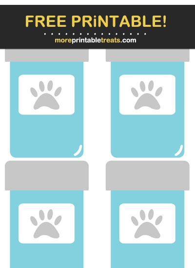 Free Printable Light Blue Pet Medicine Bottle Icons
