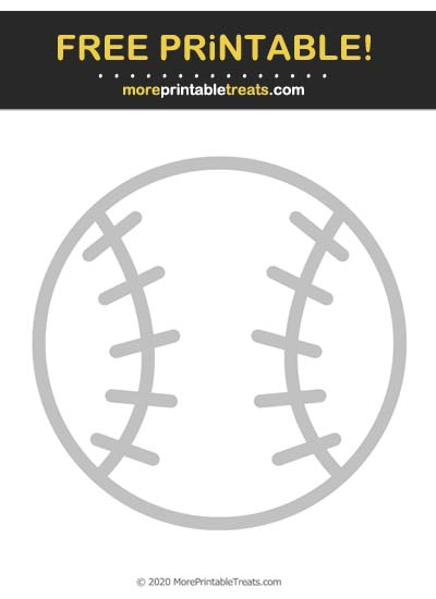 Free Printable Light Gray Baseball Icon Cut Out