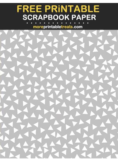 Free Printable Light Gray Triangle Confetti Scrapbook Paper