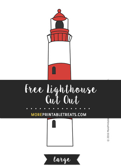 Free Lighthouse Cut Out - Large