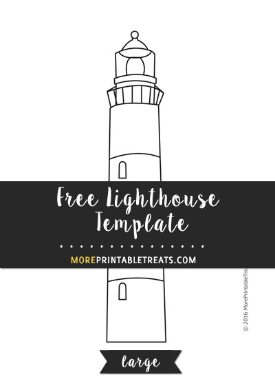 Free Lighthouse Template - Large