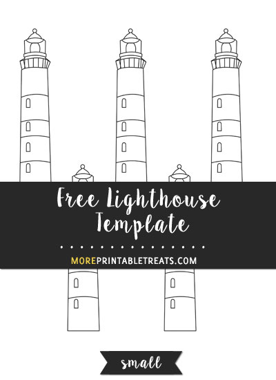 Free Lighthouse Template - Small Size