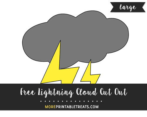 Free Lightning Cloud Cut Out - Large