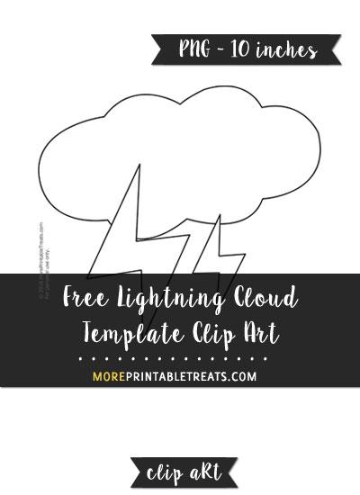 Free Lightning Cloud Template - Clipart