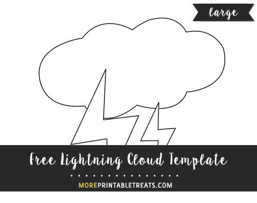 Free Lightning Cloud Template - Large