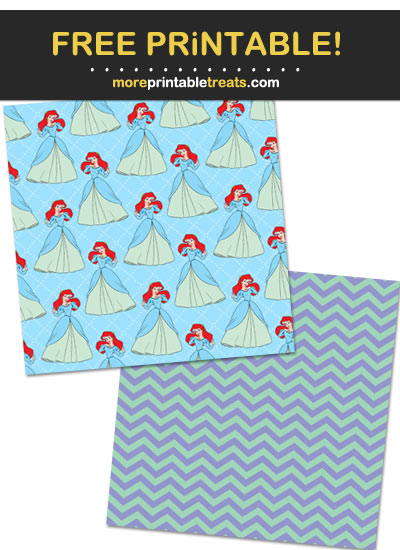 Free Printable Little Mermaid Wrapping Paper
