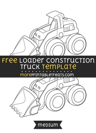 Free Loader Construction Truck Template - Medium